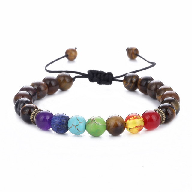 11.11 7 Chakra Bracelet Adjustable Beads Bangles & Bracelets Natural Solar System Energy Bracelet Male Healing Balance Pulseira 2