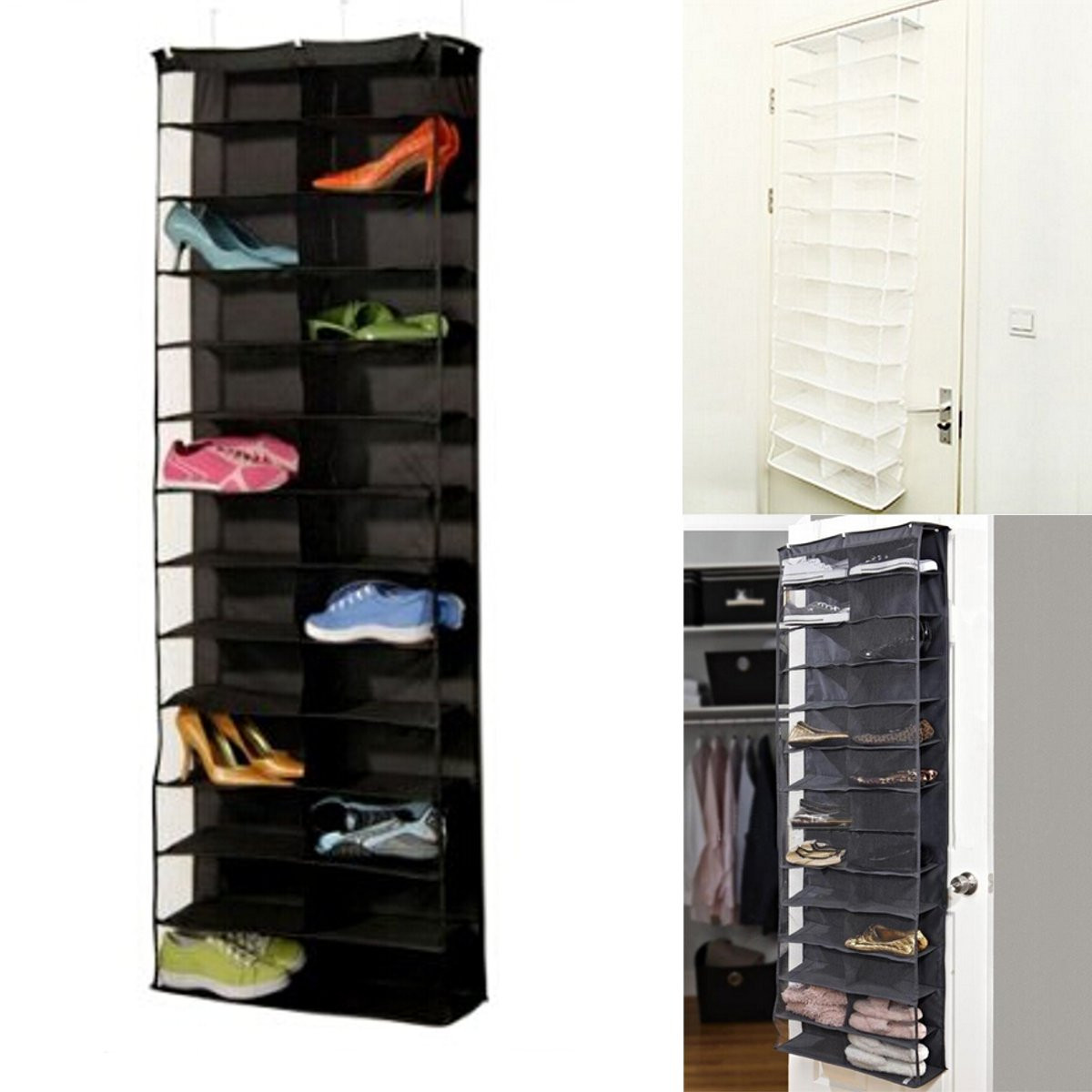 Aliexpress.com : Buy Shoe Rack Door Wall Hanging Shelf Bag Shoes Stand  Holder Home Living Room Storage Organizer 26 Pairs From Reliable Shoe Bag  Wholesale ... Part 95