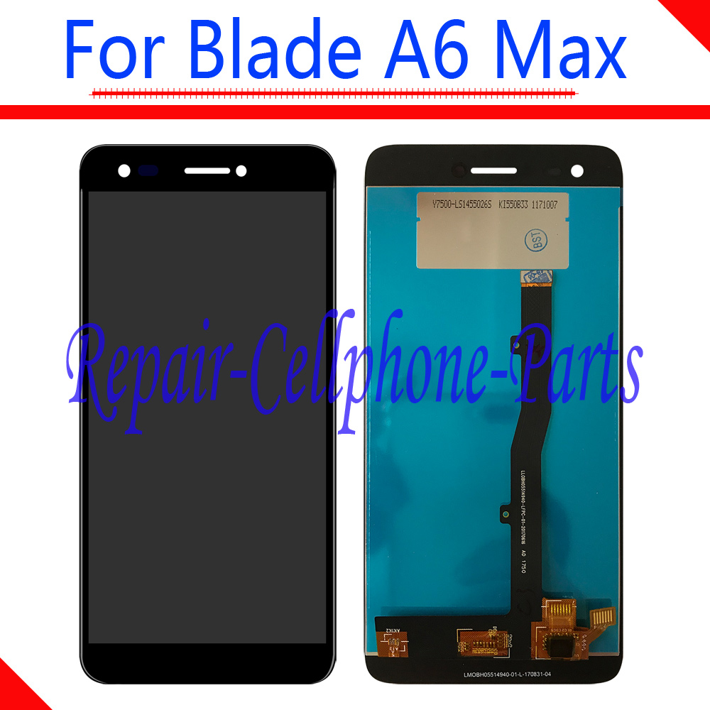 Black 100% New Full LCD DIsplay + Touch Screen Digitizer Assembly Replacement For ZTE Blade A6 Max Free Shipping