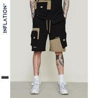 INFLATION 2019 Men's Classic Loose Shorts Workwear Casual Shorts Stitching Pocket Sportswear Shorts XXL 9315S