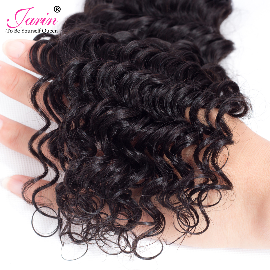 HTB1yp0Yn lYBeNjSszcq6zwhFXay Deep Wave Bundles With Lace Closure 4x4 Brazilian Hair Weave Bundle With Closure Remy Human Hair Free Middle Three Part Jarin