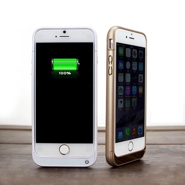 Para iphone 6/6 s iphone 6/6 s plus carregador de bateria caso 5800 mAh 8200 mAh Caso a Energia da Bateria Banco de Potência Máxima de Saída 1A