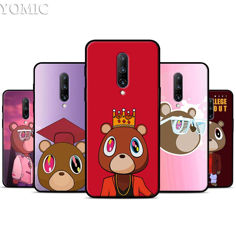 Fashion Kanye West Graduation Teddy Silicone Case for font b Oneplus b font font b 7