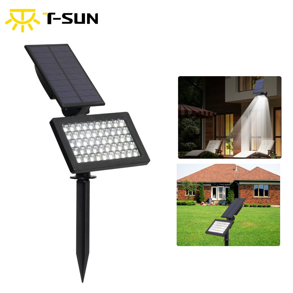 T-SUNRISE 50 LEDs Outdoor LED Solar Powered Garden Lights IP44 Waterproof Lawn Lamp Landscape Spot LightsT-SUNRISE 50 LEDs Outdoor LED Solar Powered Garden Lights IP44 Waterproof Lawn Lamp Landscape Spot Lights