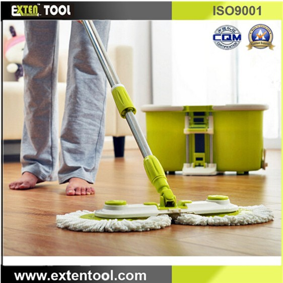 double spin mop head mop and bucket