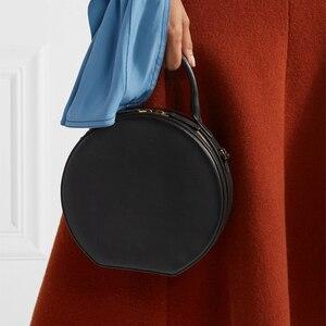 Image 4 - Женская круглая сумка мессенджер, брендовая элегантная сумка из искусственной кожи высокого качества, 2019