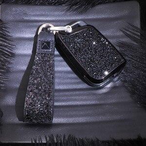 Image 3 - Chave de cristal artificial caso capa titular do escudo para vw polo golf 7 tiguan para skoda octavia karoq para seat ateca leon ibiza 2015