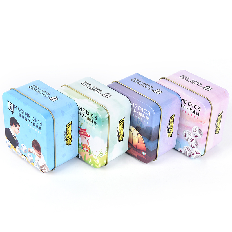 1 Pc histoire dés histoire jeu de dés regarder image raconter une histoire Cubes blancs avec boîte pour la famille amusant partie jeu de société