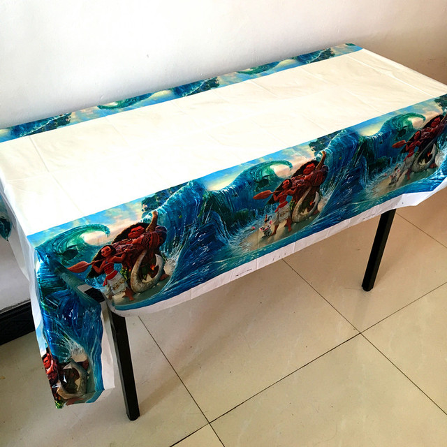 1PC Moana theme table cover Moana table cloth kids birthday party