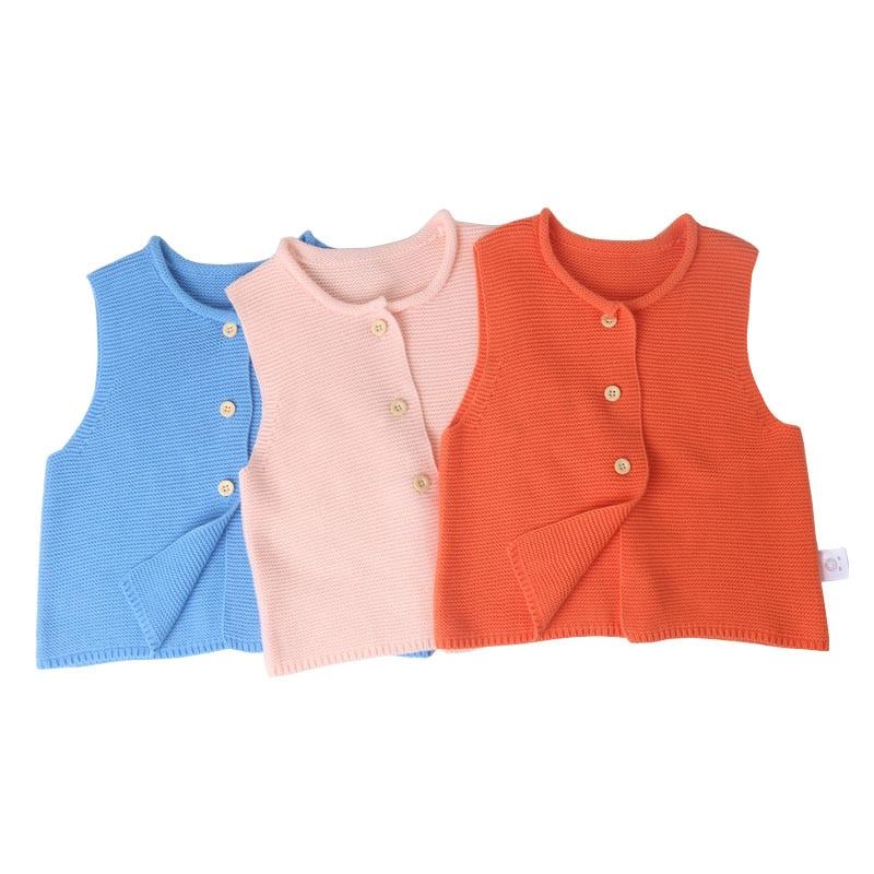 Coat Sleeveless Jackets Cardigan Spring Girls Baby-Boy-Girl Autumn Knit Vest Sweaters