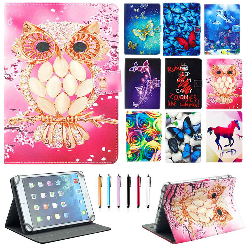 Eagwell Universal 7 inch Tablet Case Fashion Printed PU Leather Flip Case Stand Protective Cover Fundas for 7'' Tablets PC flip left and right stand pu leather case cover for blu vivo air