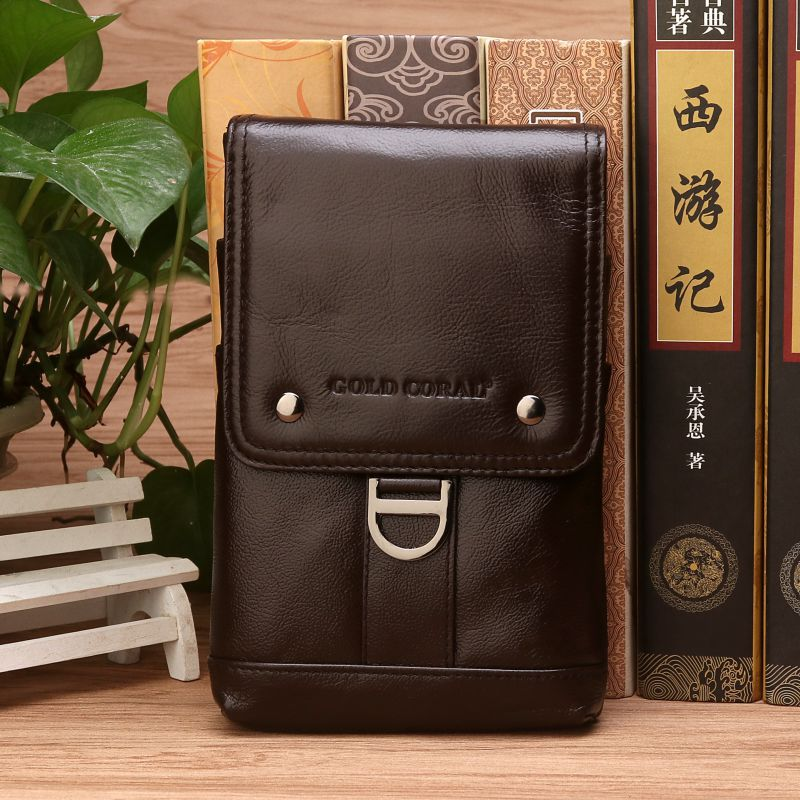 Genuine Leather Men Belt Waist Pack Small Shoulder Messenger Bags Casual Design Phone Pouch Fanny Pack travel Crossbody Bag genuine leather fashion men waist belt bags small fanny pack phone pouch wallet brand messenger shoulder bag travel waist pack