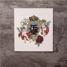 1pc Embroidery Sequin DIY Crown Flower Angel Applique Patches for Clothes Sew on Jeans T-shir Crafts TH1107E