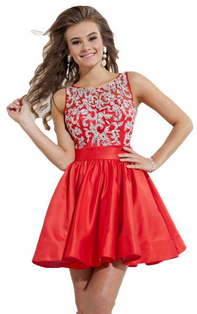 0d8eebc8070 top quality short red cocktail dresses 2017 satin pearls gown homecoming  dresses juniors plus size vestidos de festa curto robe
