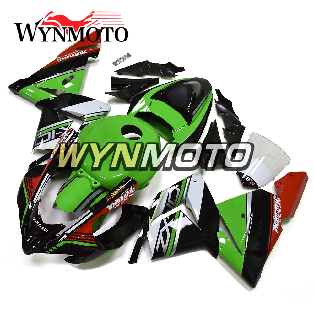 WYNMOTO ABS Plastic Injection Green Black Pattern Motorcycle Fairing Kit Cowlings For Kawasaki ZX10R 2011 2012 2013 2014 2015 ZX-10R Sportbike Body Frames