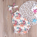 Cotton Newborn Infant Baby Girls Clothes Bodysuit Sleeveless Cute Belt Jumpsuit Clothing Baby Girl Outfits
