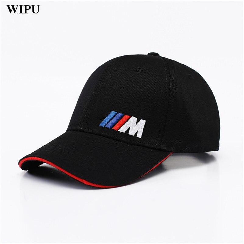 De algodón de moda de hombres coche logotipo M rendimiento gorra de béisbol sombrero para bmw M3 M5 3 5 7X1X3X4X4 5X5 6 X 330i Z4 GT 760li E30 E34 E36 E38