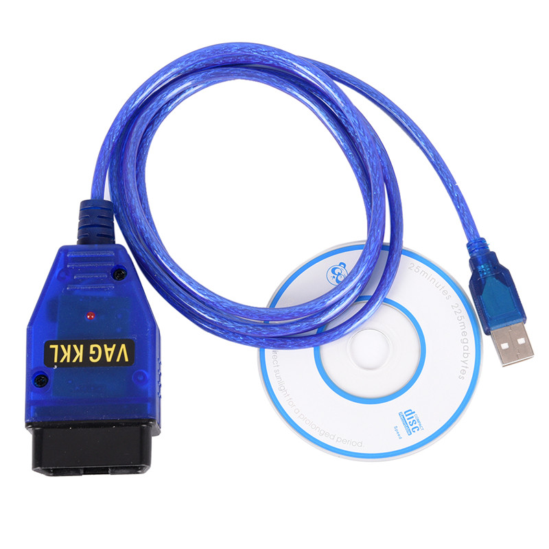 USB Cable KKL VAG-COM 409.1 OBD2 II OBD Diagnostic Scanner for Seat VCDS цена