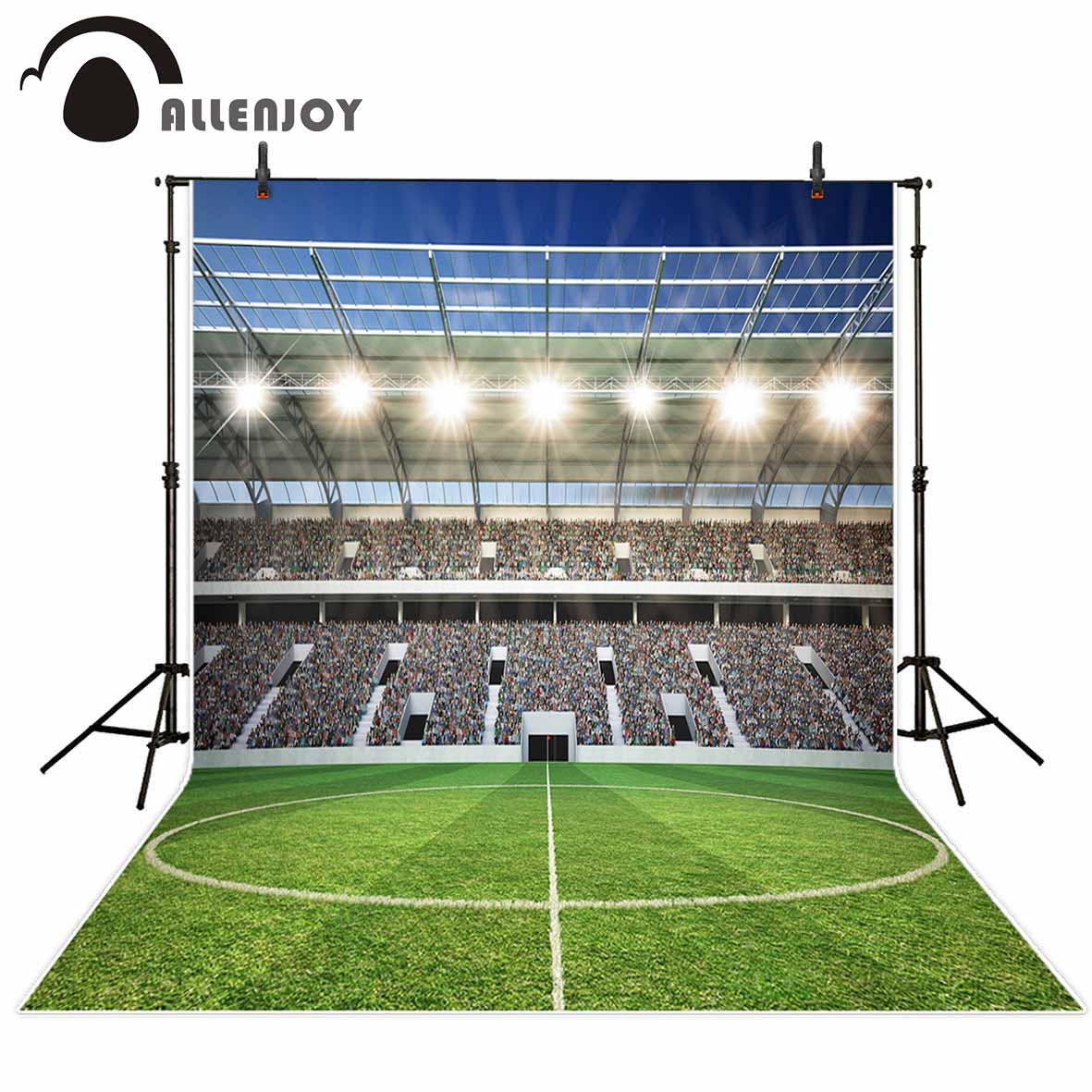 Allenjoy photographic background Football lawn stadium competition spotlight Photographic background for study Photo background