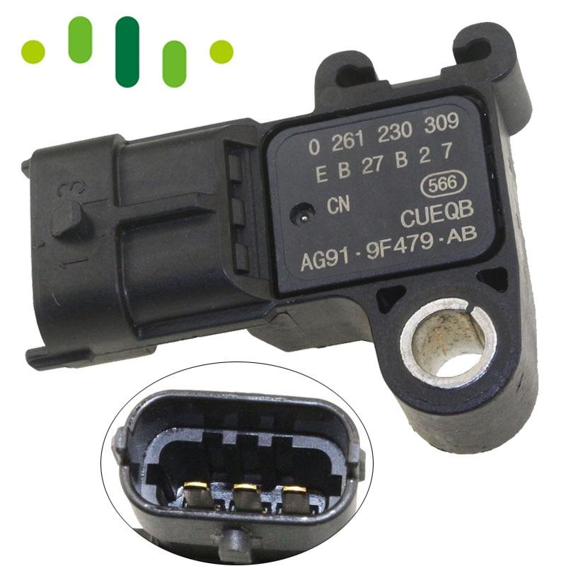 Image 2 - 3 BAR Boost Pressure MAP Sensor AG91 9F479 AB For Ford B MAX C MAX II FIESTA VI FOCUS III GALAXY KUGA II MONDEO IV 1.6 1.0 2.0-in Pressure Sensor from Automobiles & Motorcycles