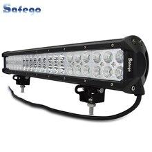 Светодиодная панель рабочего освещения Safego, 20 дюймов, 126 вт, комбинированный прожектор с точечным светом для внедорожников 4x4 4WD SUV ATV UTV, грузовиков, лодок, дальсветильник света, 12 в, 24 в