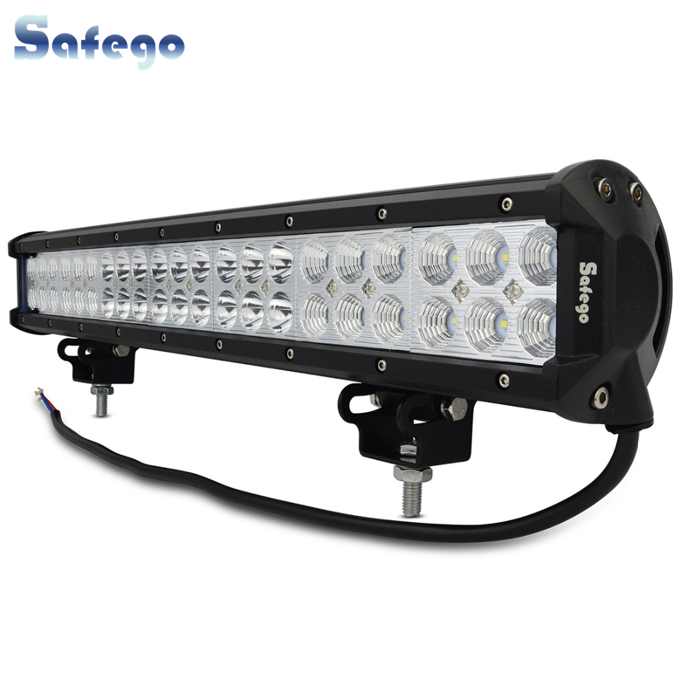 Safego 20 Inch 126W Led Light Bar Offroad 4X4 Led Work Light for Off Road Vehicle Trucks Tractor ATV 12V/24V 7800LM White 6000K-in Light Bar/Work Light from Automobiles & Motorcycles