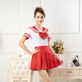 UPHYD Anime Cosplay School Uniform Cheerleader Costume S-XL Japanese School Girls Stage Performance Sailor Suits 5