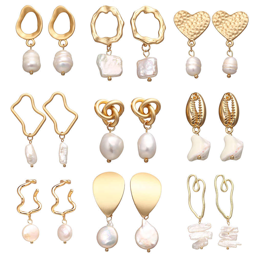 IF YOU Fashion Natural Freshwater Pearl Earrings With Pearl For Women Girl Irregular Korean Dangle Earring Brincos Gift 2019 New