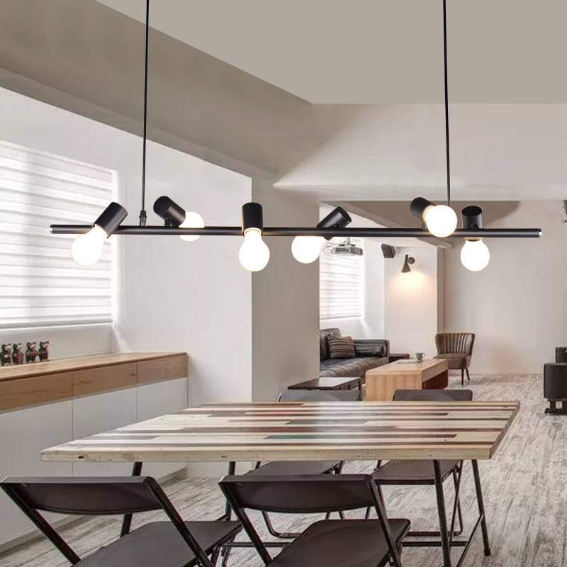 sale retailer 84da4 2f44e US $98.7 6% OFF|Bird Modern Nordic Simple Loft Ceiling Lamp Cafe Bar Store  Dining Room Lighting Study Room Restaurant Droplight Black White-in Ceiling  ...