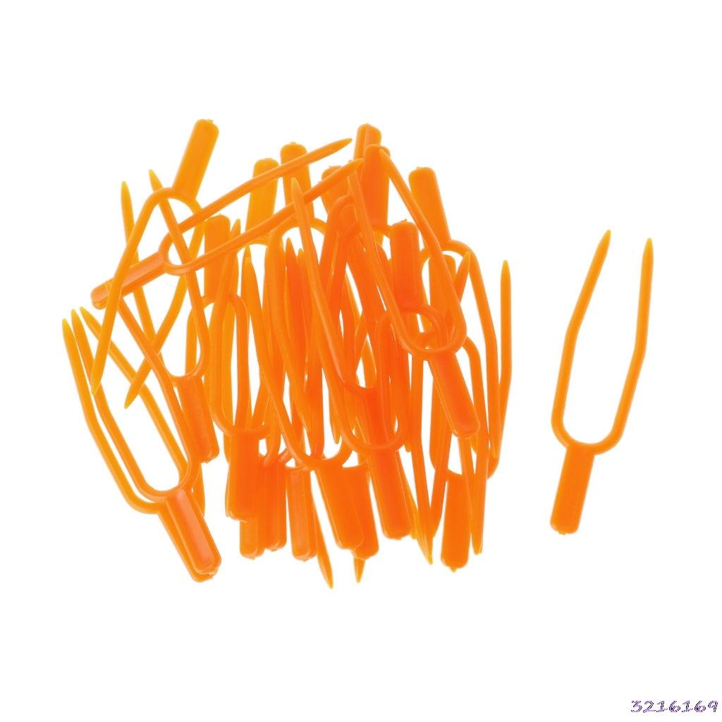 Горячая Garden Tool 50 шт. завод клипы столонов Светильник Зажим земледелия клубника вилка