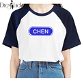 exo Korean harajuku t shirt summer casual plus size couple clothes print paired tshirt 2016 short sleeve T-shirts for women tops