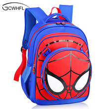 Heißer Spiderman Kinder Schultaschen 3D Cartoon Jungen Buch Beutel Grundschule Grade 1-3 Umhängetasche Kinder Rucksack Mochila Satchel