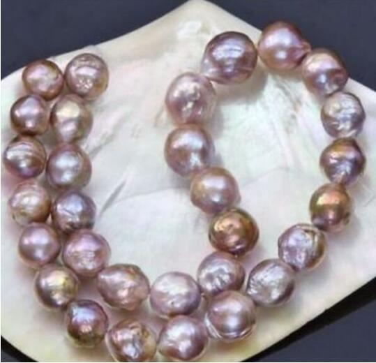 где купить free shipping 10-11mm natural south seas pink purple kasumi pearl necklace 18 по лучшей цене