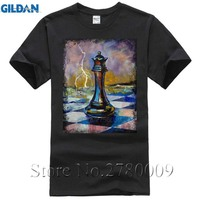 New Fashion Men S T Shirt Queen Of Chess T Shirt Lowest Pre O Neck Cool