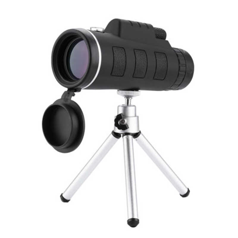 Nieuw 40X60 High Power Monoculaire Telescoop Hd Dubbele Focus Scope Monoculaire + Statief + Clip + Kompas BN99