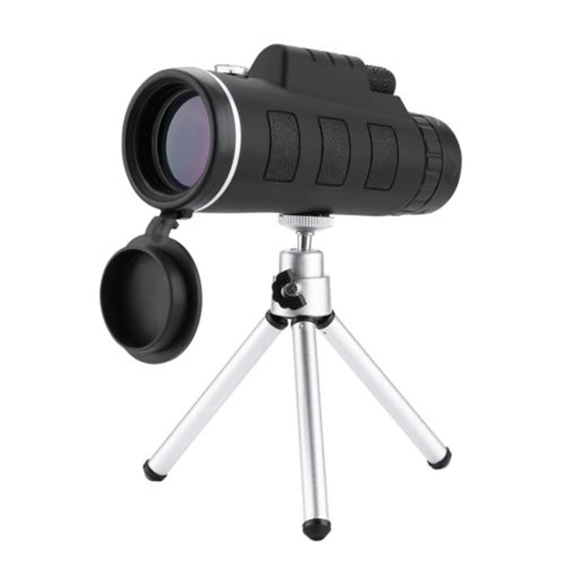 40x60 alta poderosa telescopio monocular hd duplo foco escopo com bussola clipe de telefone monocular tripe