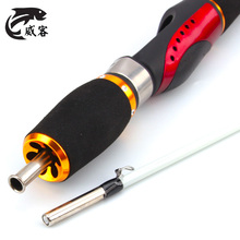 Excessive High quality Transportable Mini60/80cm Carbon Fiber Fishing Rod Winter Fishing Deal with UltraLight Stitching 2 Part Ice Fishing Pole