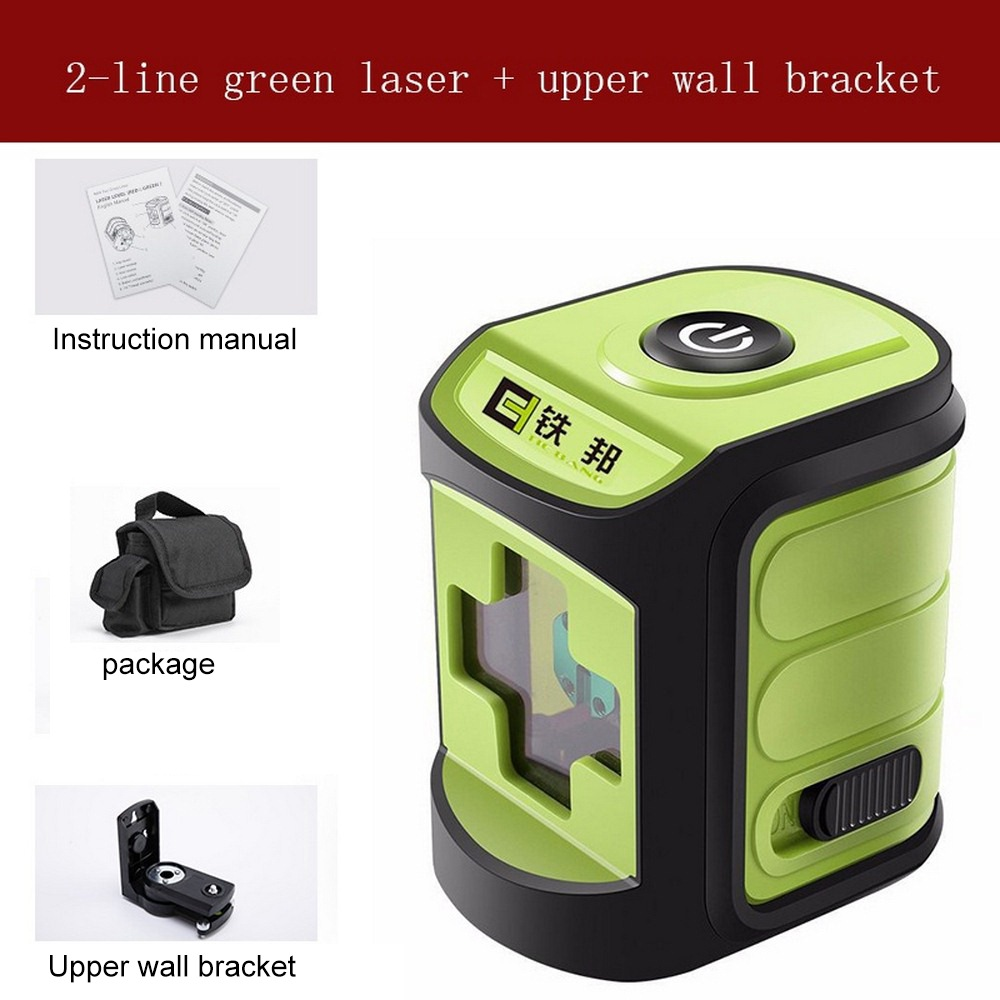 2 Lines Red Green Blue Laser Level Green Beam Cross Line Auto Self-Leveling Horizontal And Vertical with Upper Wall Bracket