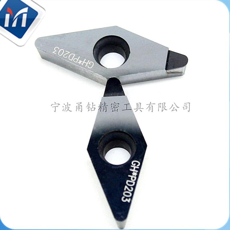 Diamond Cnc Cutter 2PCS VCGT1604 R1.2 R1.6 PCD Tip Insert DCMT CCMT TNGA CNMA For Turning Aluminum Hub Wheel