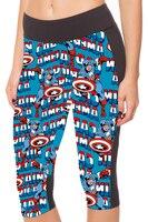 NUOVO 1176 Donne Sexy Girl The Avengers Capitan America 3D Stampe Allenamento Fitness Crea Pantaloni Delle Ghette Delle Donne Pantaloni Tasca
