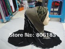 mu1114 fashion jean Wholesale muslim hijabs Patchworks assorted colors islamic hijabs High quality fast delivery Lady Caps