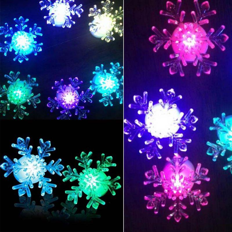 Xmas 7-Color Changing Snowflake Window LED Christmas ...
