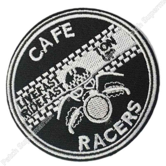 Cafe Racer Racers Ton Up 59 Rockers CLUB TRIUMPH BIKER PATCH Iron Sew On Embroidered Motorcycle Fashion Clothing Badge Applique