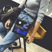 Small box women s handbag 2018 embroidery box bag chain personalized bag all match cross body