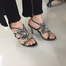 Women Sexy Pumps Summer Hollow Flowers Crystal Sandals Ankle Strap Diamond Pearl Princess Shoes Wedding Sandals Heels Sliver(China)