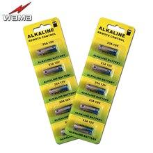 10pcs/2pack Wama 23A 12V 50mAh Dry Alkaline Battery 21/23 23GA A23 A-23 GP23A RV08 LRV08 E23A Batteries Free Shipping 5x wama 23a 12v alarm remote dry alkaline battery 21 23 23ga a23 a 23 gp23a rv08 lrv08 e23a v23ga mn21 vr22 ms21 23ae