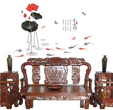 Can remove The sitting room the bedroom setting Ink painting lotus decoration can remove(China)