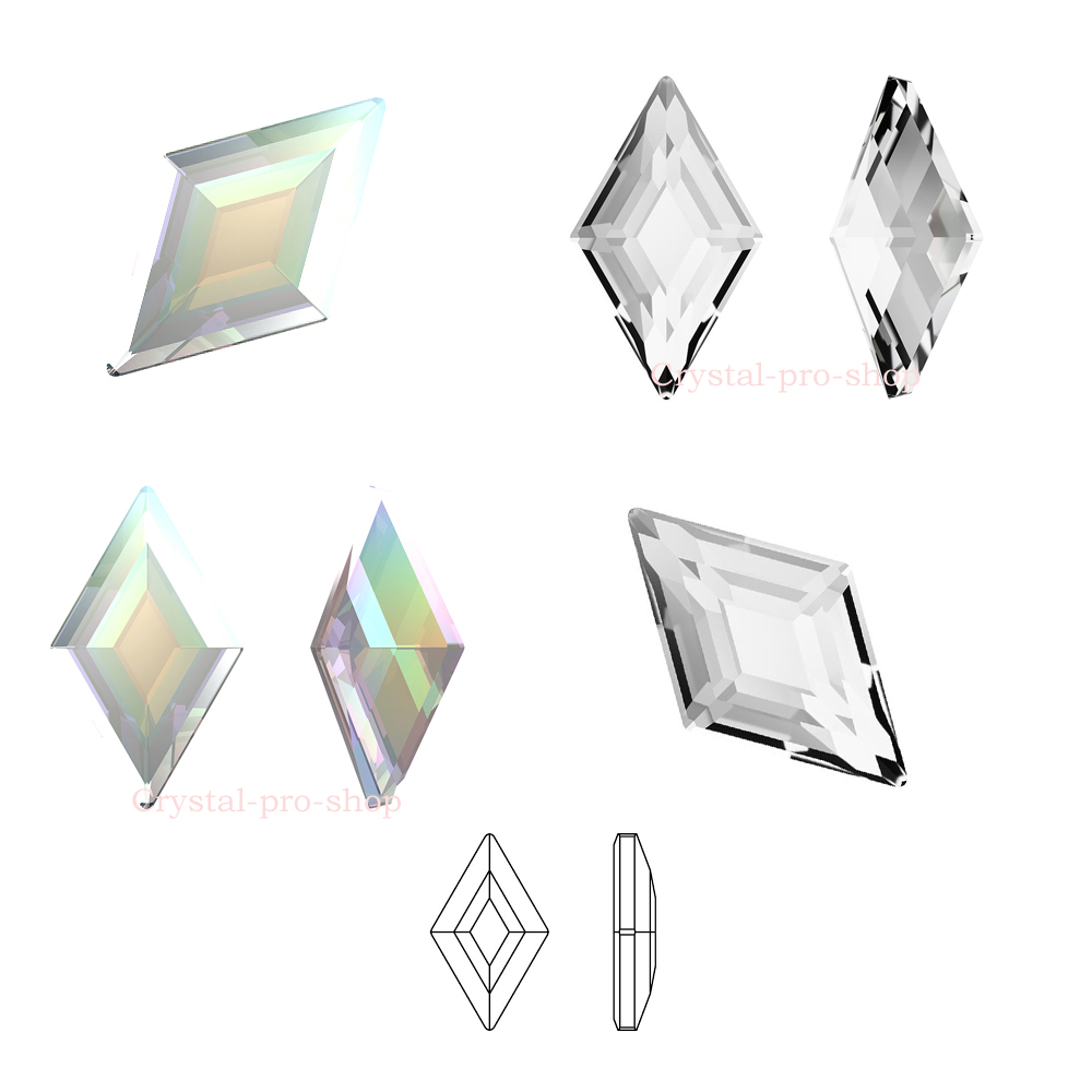 Flatback Rhombus 10x6mm Pack Of 8 Nail Care, Manicure & Pedicure Professional Sale Swarovski Crystal Shapes For Nail Art Health & Beauty