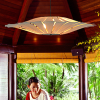 Bamboo Living Room Lights Restaurant Lamp Chinese Style Wooden Lamps Veneer Dining Room Lights