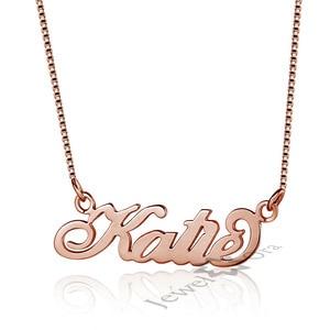 Image 4 - JewelOra collar de placa con nombre personalizada para mujer, joyería fina, nombre de Plata de Ley 925, regalo de aniversario